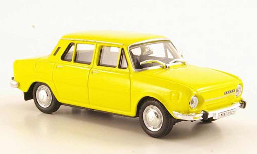 Skoda 110 1/43 Abrex jaune 1969 miniature