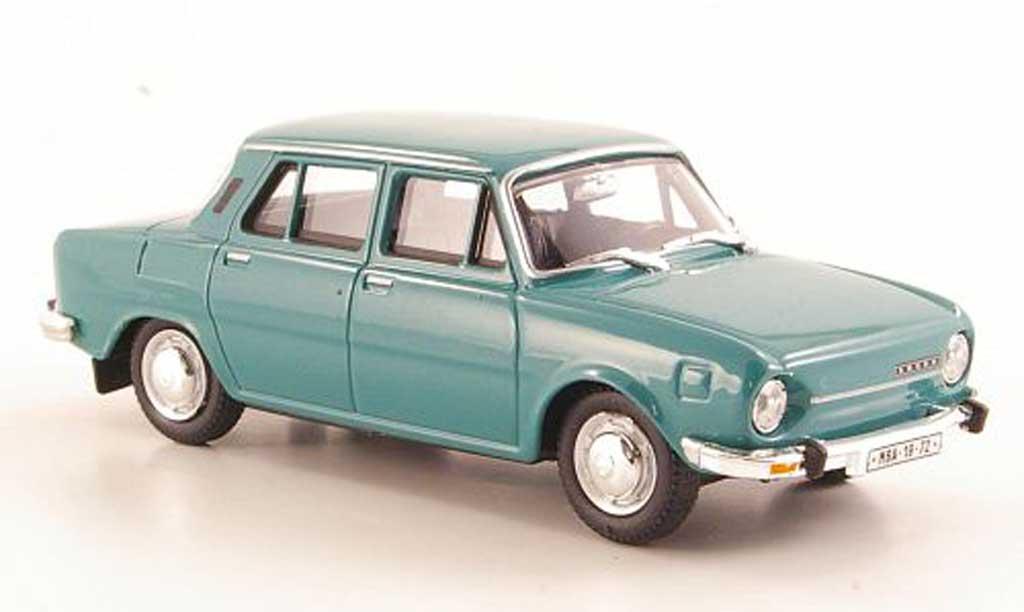 Skoda 110 1/43 Abrex grunbleu 1969 miniature