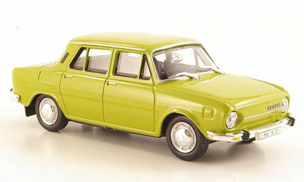 Skoda 110 1/43 Abrex jauneverte 1969 miniature