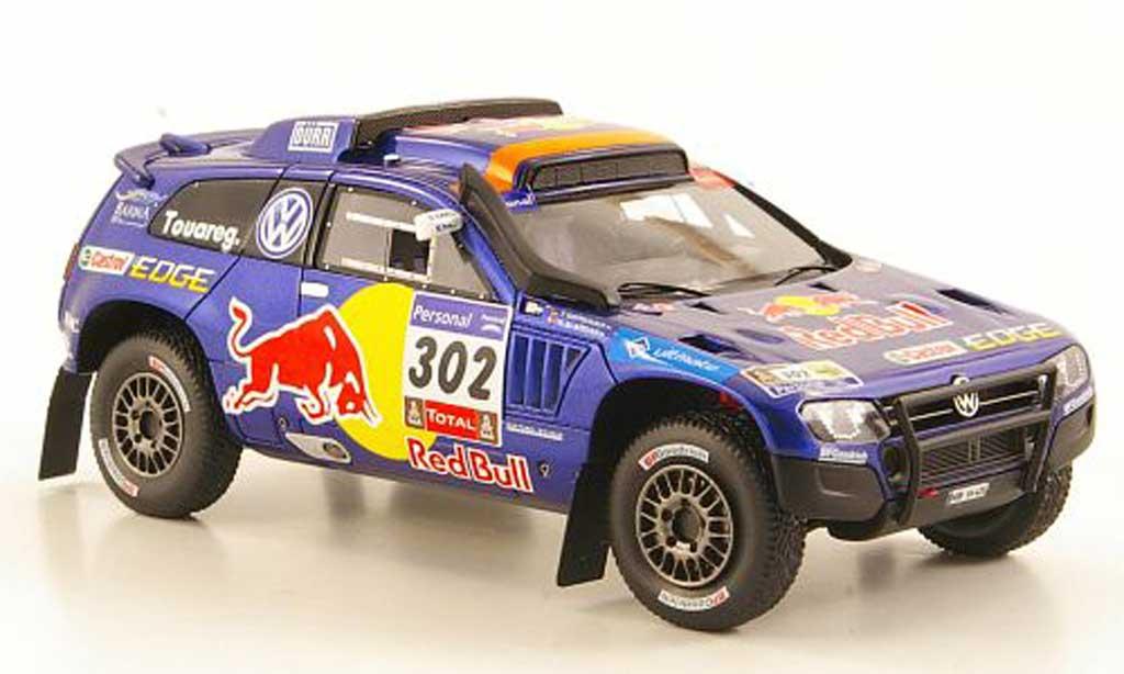 Volkswagen Touareg Dakar 1/43 Spark Race 3 No.302 Red Bull 2011 miniature