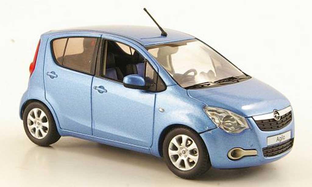 Opel Agila 1/43 Schuco B bleu 2008 miniature