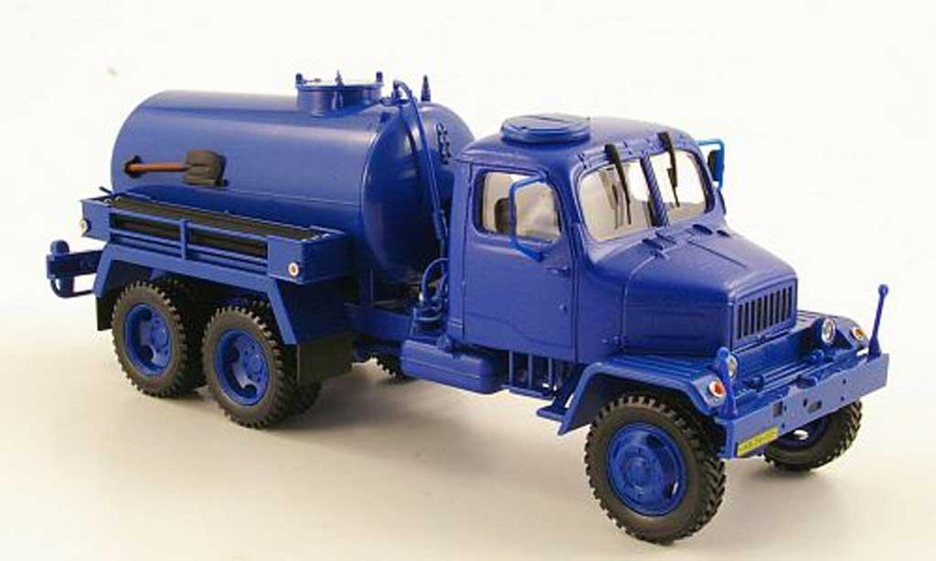 Praga V3S 1/43 Abrex Tank bleu modellautos