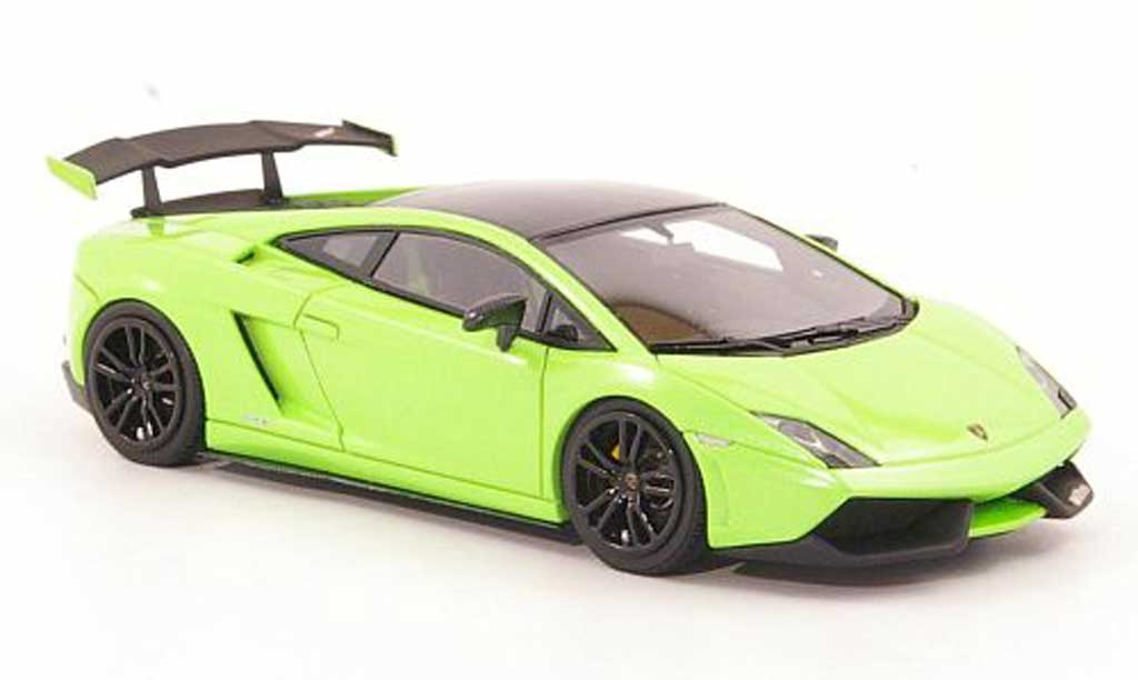 Lamborghini Gallardo LP570-4 1/43 Look Smart Super Trofeo Stradale grun/noire miniature