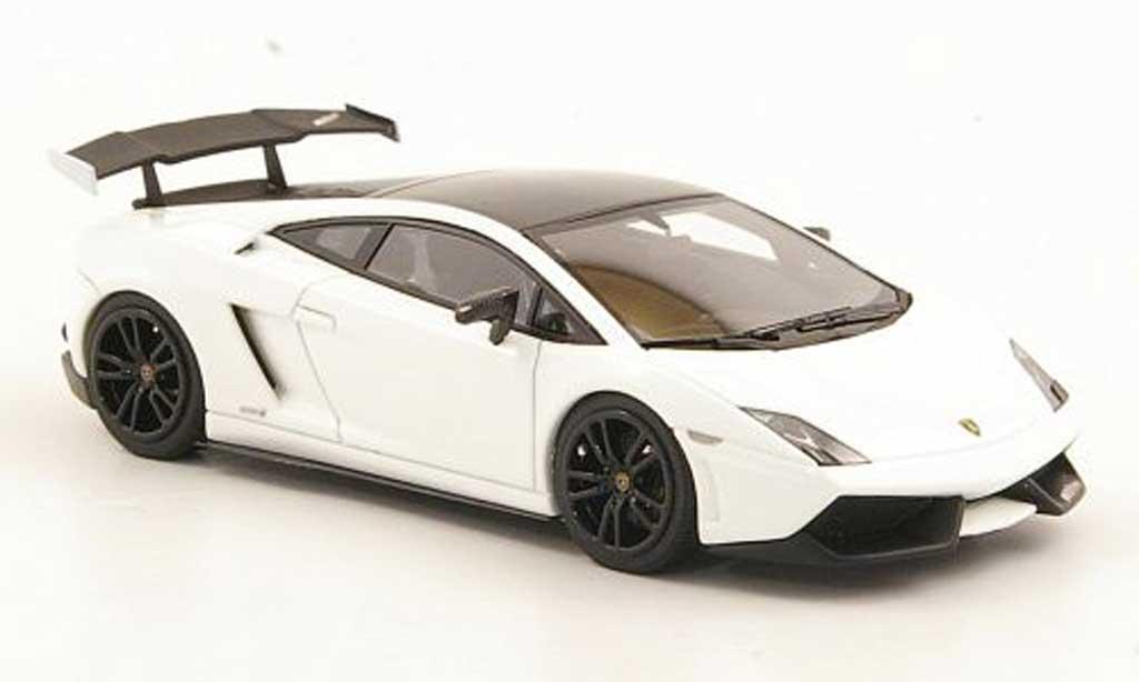 Lamborghini Gallardo LP570-4 1/43 Look Smart Super Trofeo Stradale blanche/noire miniature
