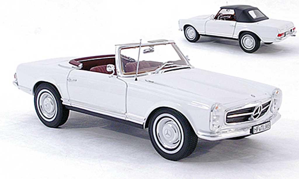 Mercedes 230 1/18 Norev SL (W113) bianco 1963 miniature