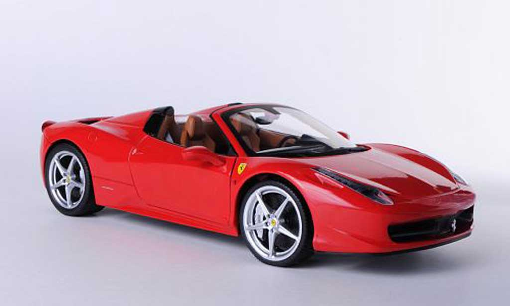 ferrari 458 italia spider rot hot wheels modellauto 1 18 kaufen verkauf modellauto online. Black Bedroom Furniture Sets. Home Design Ideas