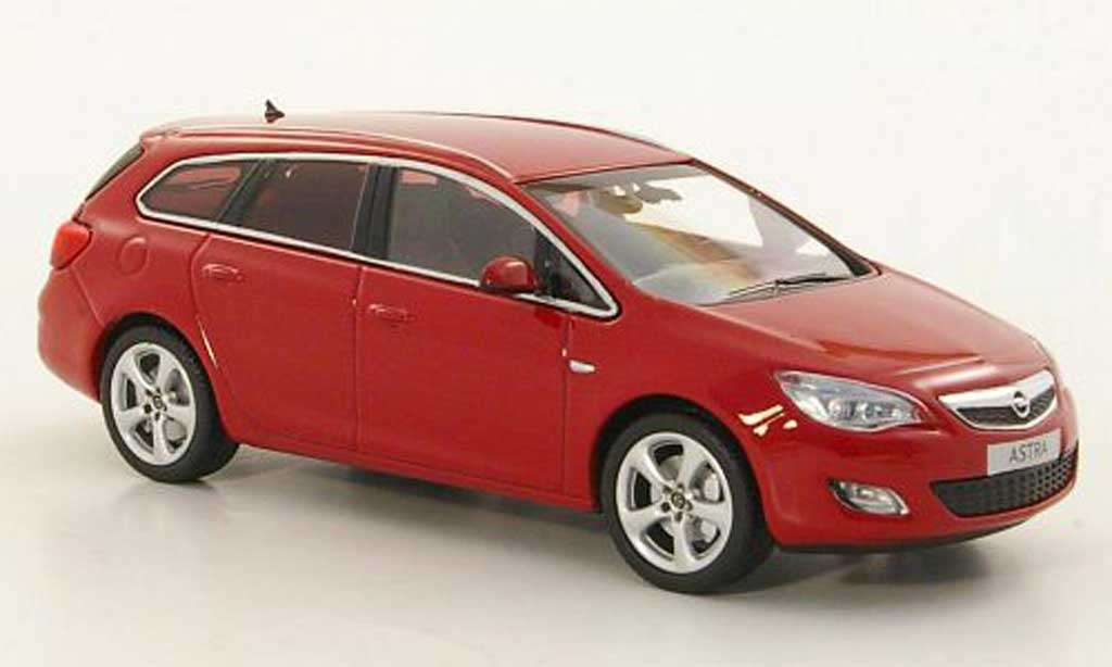 opel astra miniature sportstourer rouge 2010 minichamps 1 43 voiture. Black Bedroom Furniture Sets. Home Design Ideas