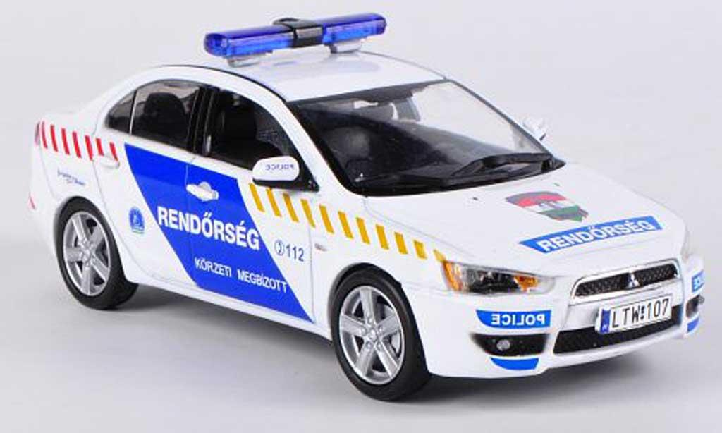 Mitsubishi Lancer Evolution X 1/43 Vitesse X Hungarian Police 2009 miniature