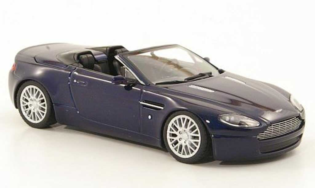 aston martin v8 roadster miniature bleu sondermodell mcw 2008 minichamps 1 43 voiture. Black Bedroom Furniture Sets. Home Design Ideas