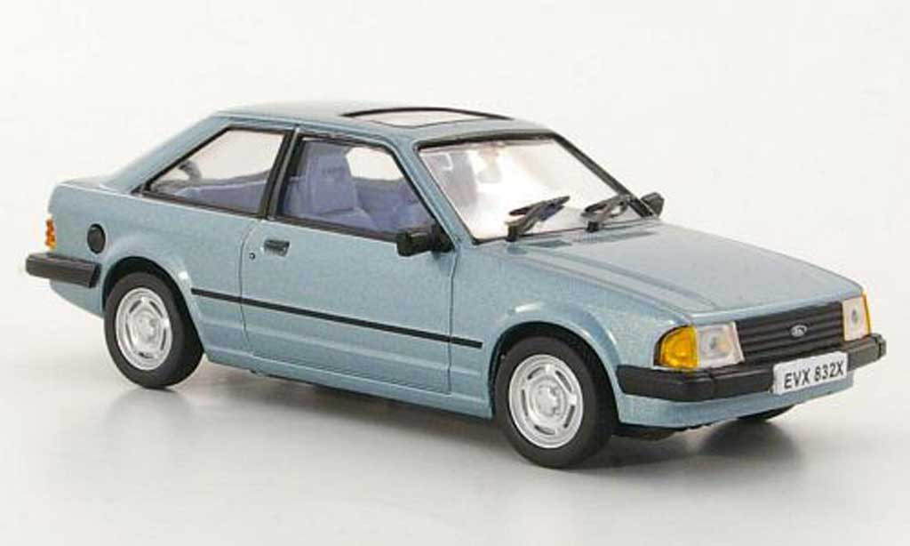 Ford Escort MK3 1/43 Vitesse GL grisebleu RHD miniature