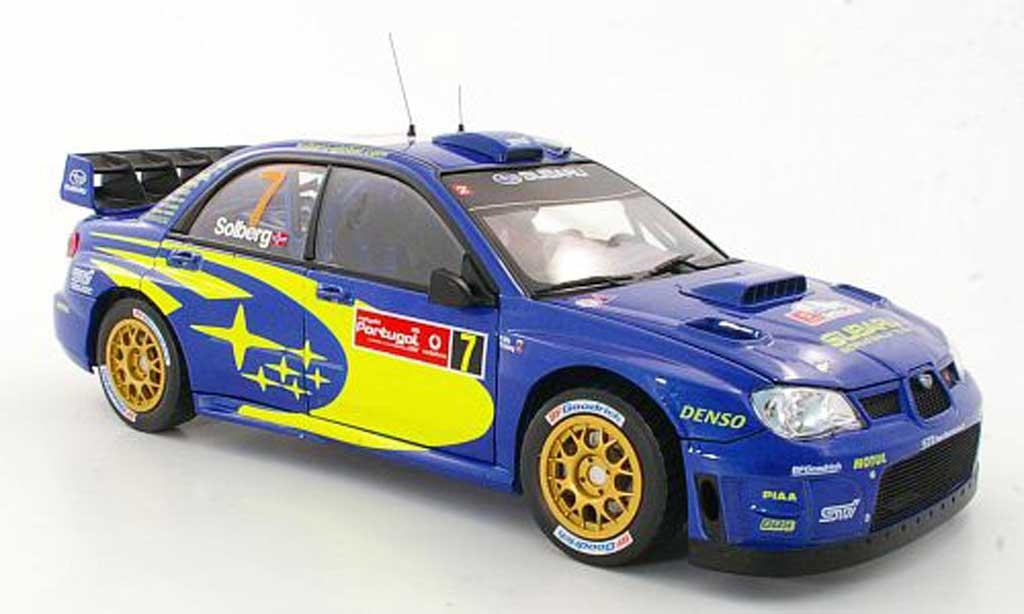 Subaru Impreza WRC 1/18 Sun Star No.7 P.Solberg / P.Mills Rally Portugal 2007 miniature