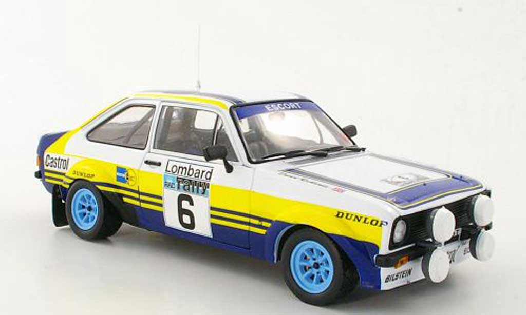 Ford Escort MK2 1/18 Sun Star 1800 No.6 rougehmans A.Vatanen / D.Richards Lombard RAC Rally 1979 miniature