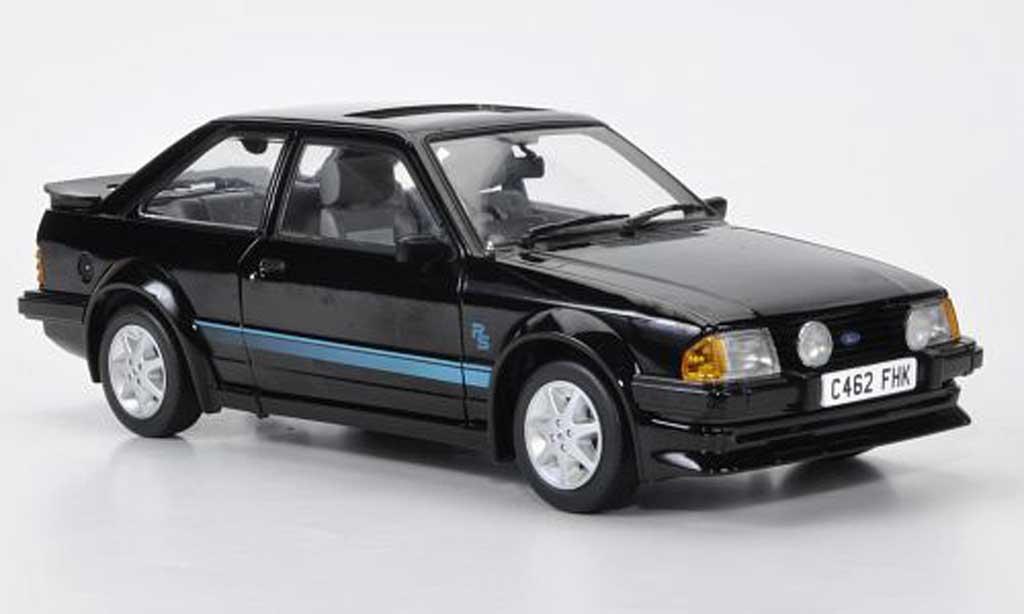 Ford Escort MK3 1/18 Sun Star Turbo noire RHD 1984 miniature