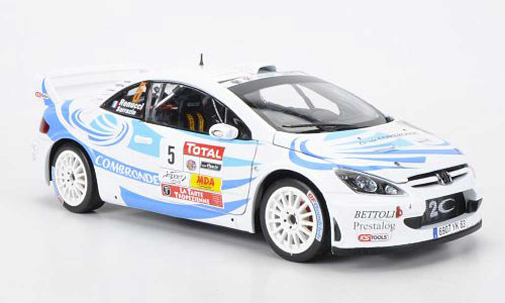 Peugeot 307 WRC 1/18 Sun Star No.5 Combronde S.Sarrazin/J.Renucci Rally du Var 2011 miniature
