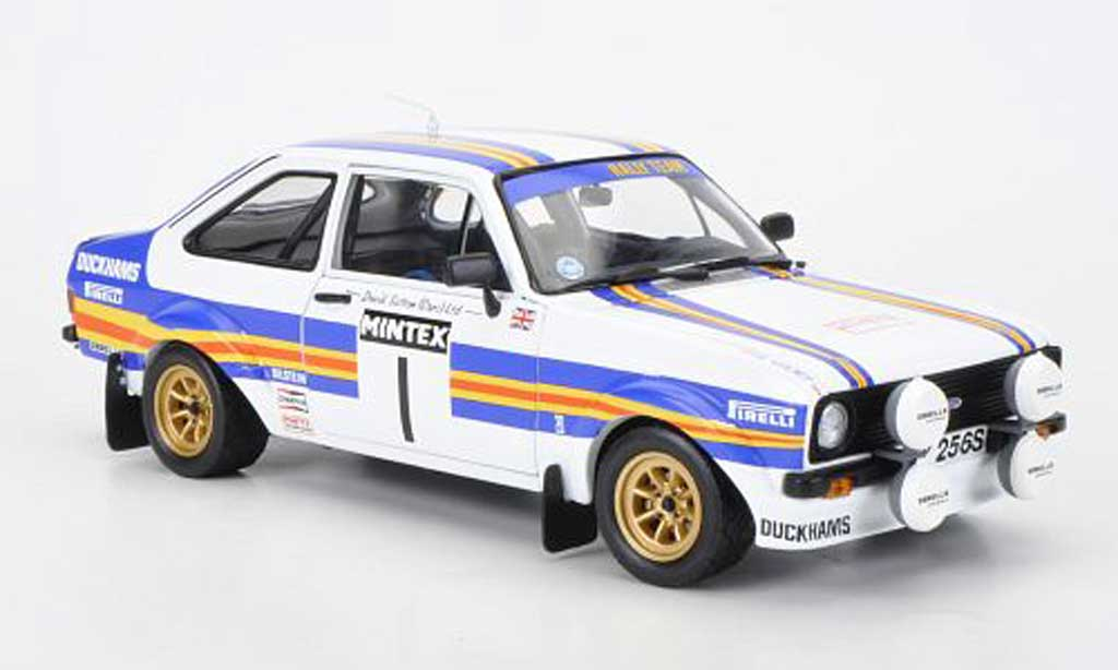 Ford Escort RS 1800 1/18 Sun Star No.1 redhmans Mintex Internatinal Rally 1981 P.Airikkala/P.Short diecast model cars