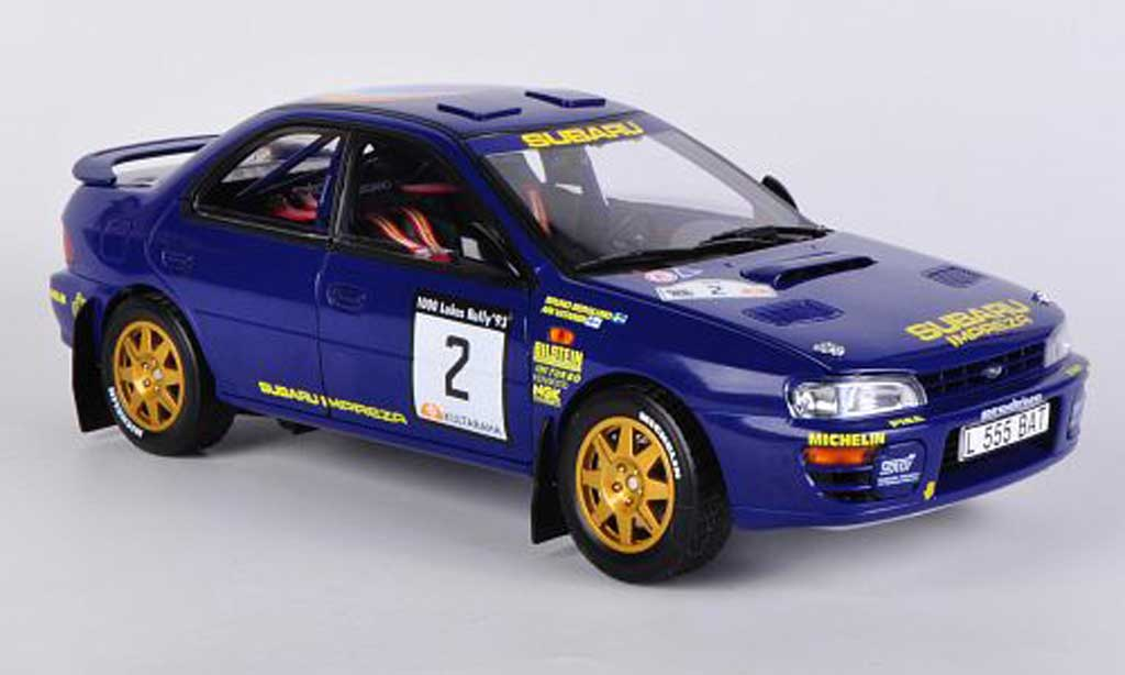 Subaru Impreza 1/18 Sun Star 555 No.2 2nd 1000 Lakes Rally 1993 A.Vantanen/B.Berglund miniature