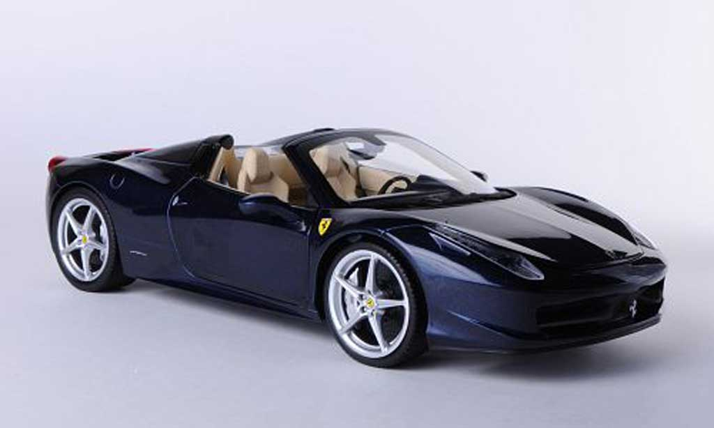 ferrari 458 italia spider blau hot wheels modellauto 1 18 kaufen verkauf modellauto online. Black Bedroom Furniture Sets. Home Design Ideas