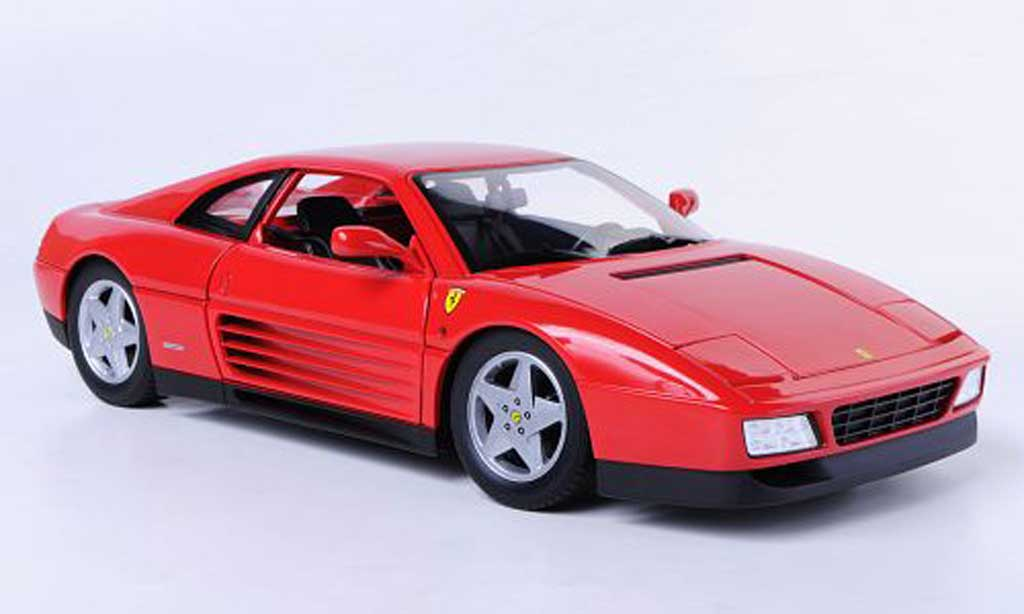 Ferrari 348 tb 1/18 Hot Wheels rouge miniature