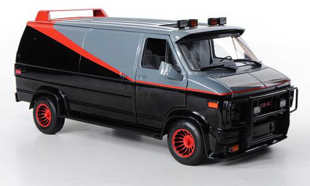 gmc panel van miniature a team noire grise rouge 1983 hot. Black Bedroom Furniture Sets. Home Design Ideas