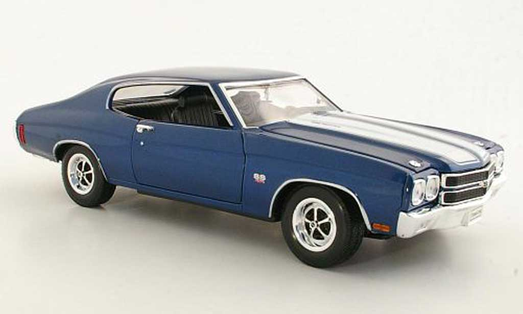 Chevrolet Chevelle 1970 1/18 Welly bleu/white SS454 diecast model cars
