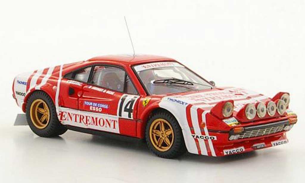 Ferrari 308 GTB 1/43 Best Gr.4 No.14 Andruet / Biche Tour de Corse 1981 miniature
