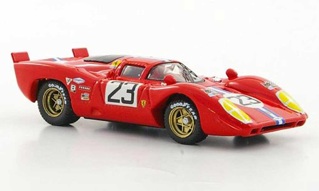 Ferrari 312 P 1/43 Best No.23 NART Chinetti Jr. / Adamowicz Sebring 1970 miniature