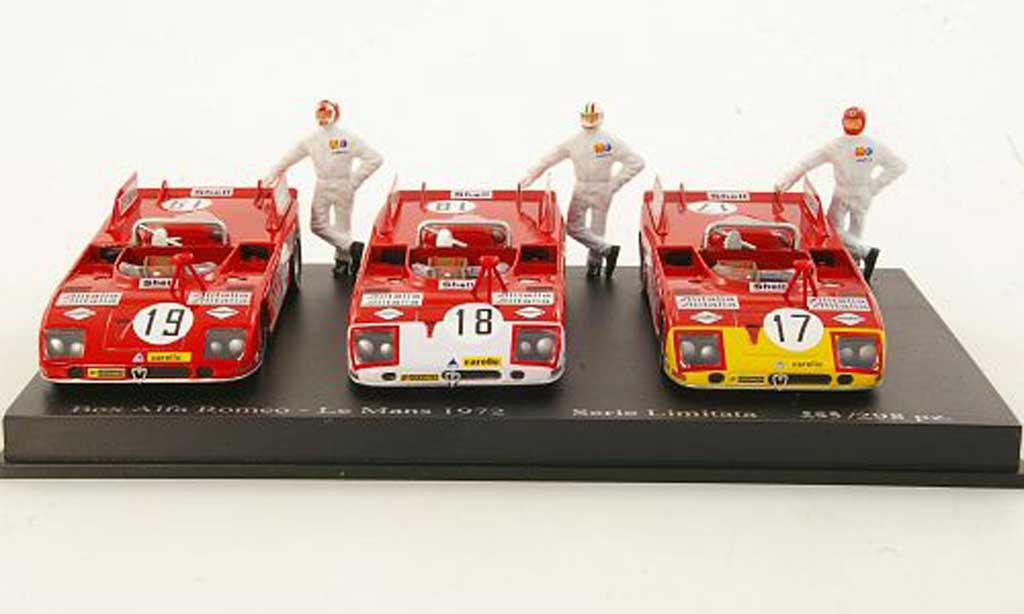 Alfa Romeo 33.3 1/43 M4 3er-Set TT: No.17 Elford + No.18 Vaccarella + No.19 Stommelen 24h Le Mans miniature