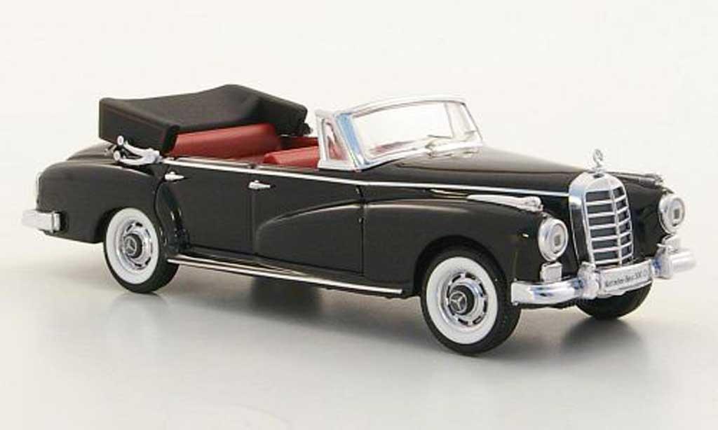 Mercedes 300 D 1/43 Rio Cabriolet (W 189) black 1958 diecast model cars