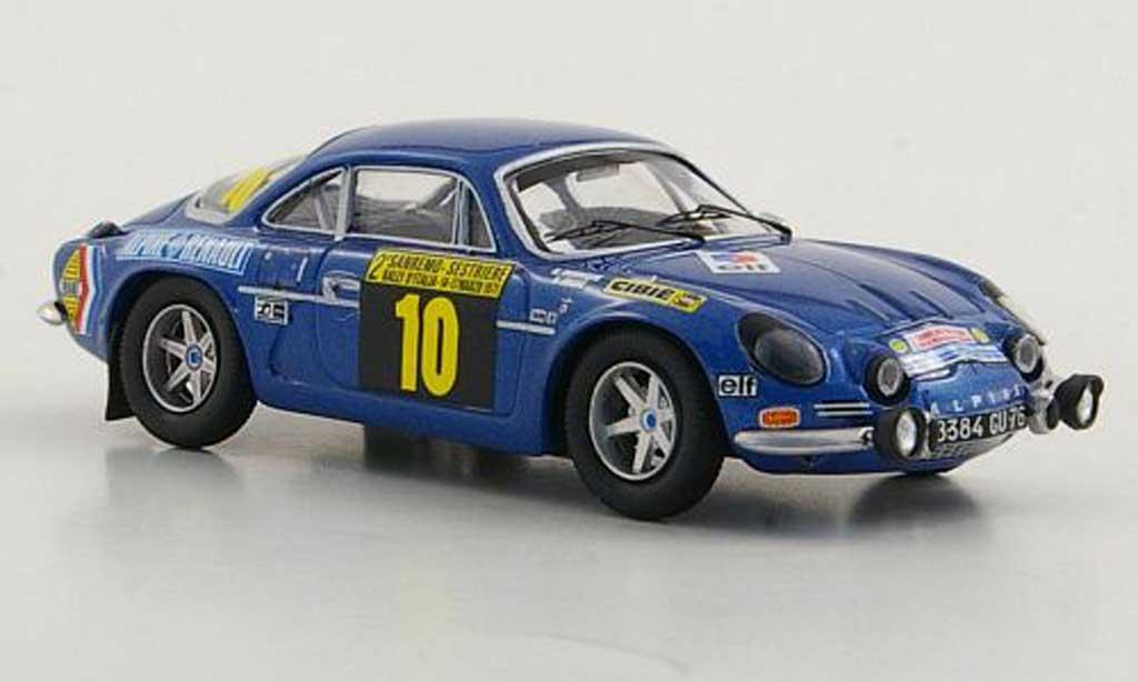 Alpine A110 1/43 Trofeu 1600S No.10 B.Darniche / A.Mahe Rally San Remo 1971 miniature