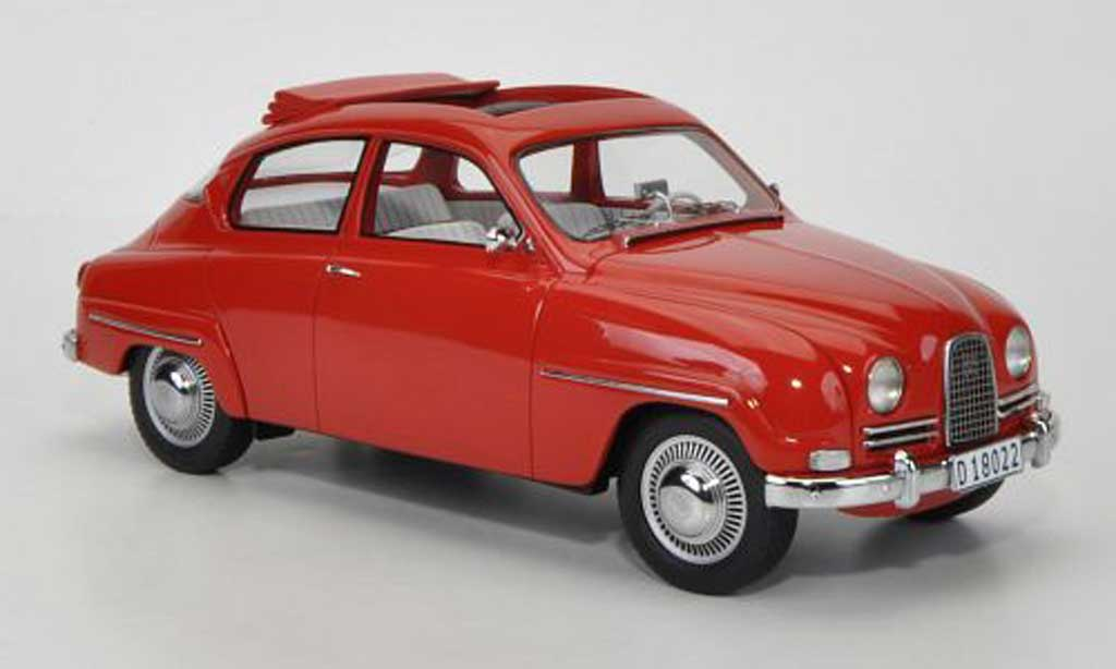 saab 96 rot geoffnetes schiebedach 1963 neo modellauto 1. Black Bedroom Furniture Sets. Home Design Ideas