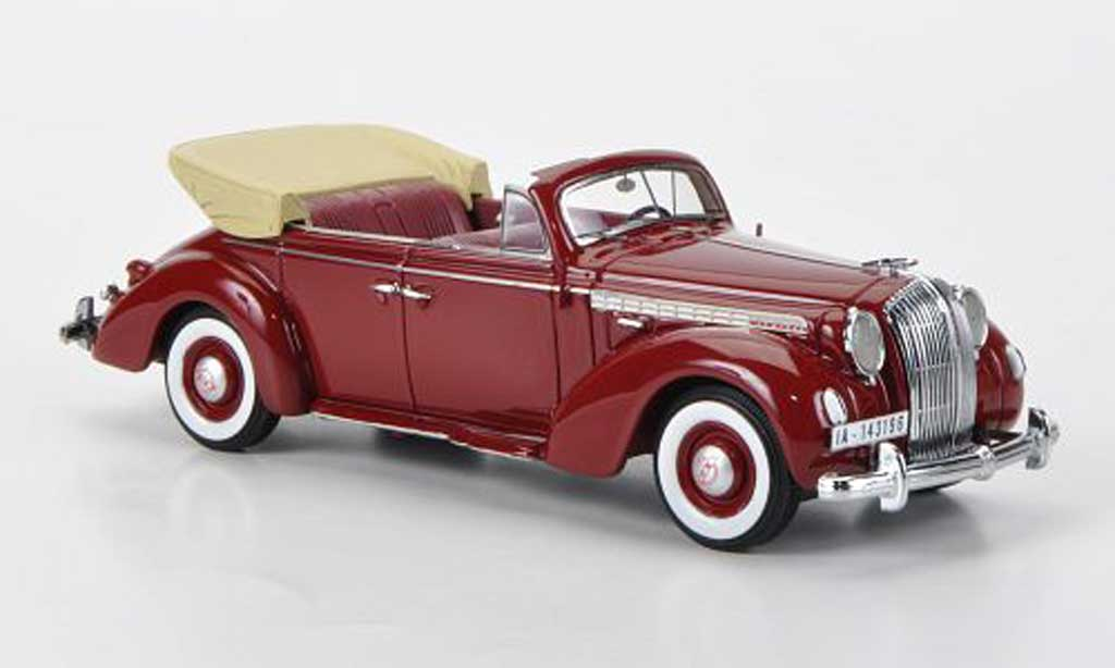 Opel Admiral 1/43 Neo Cabriolet rouge 1938 miniature