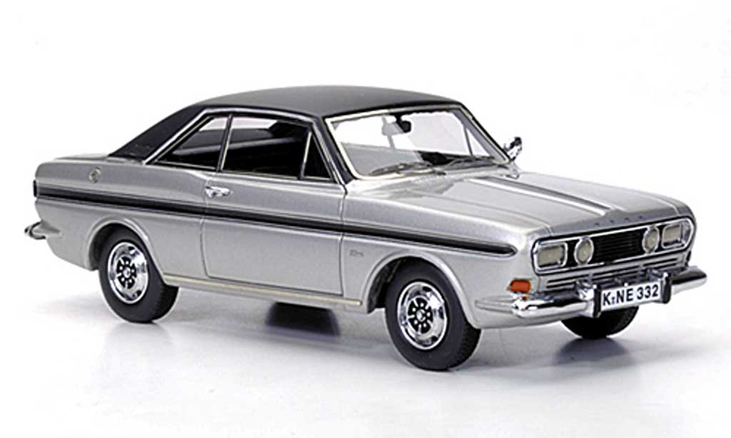 Ford Taunus 1968 1/43 Neo P6 15M Coupe grey /black diecast model cars