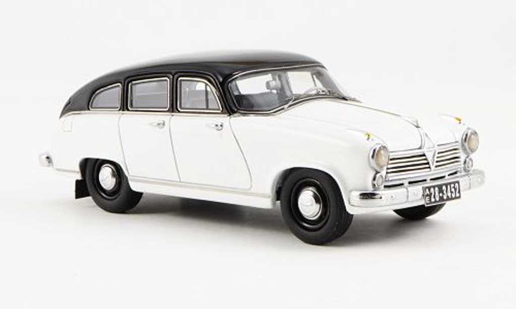 Borgward Hansa 2400 1/43 Neo blanche/noire 1955 miniature