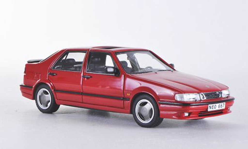Saab 9000 CS 1/43 Neo Aero rouge 1995 miniature
