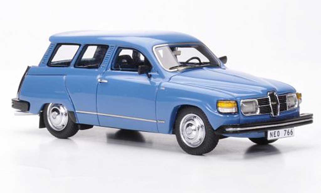 Saab 95 1/43 Neo GL bleu 1979 miniature