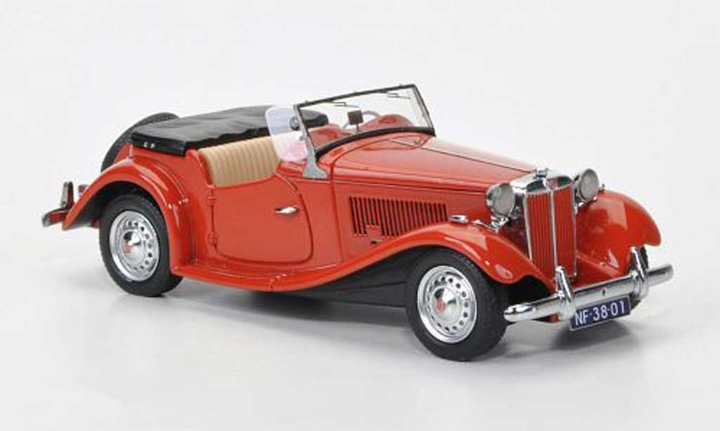 MG TD 1/43 Neo MkII red LHD 1950 diecast model cars