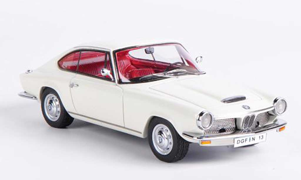 Bmw 1600 GT 1/43 Neo white 1967 diecast model cars