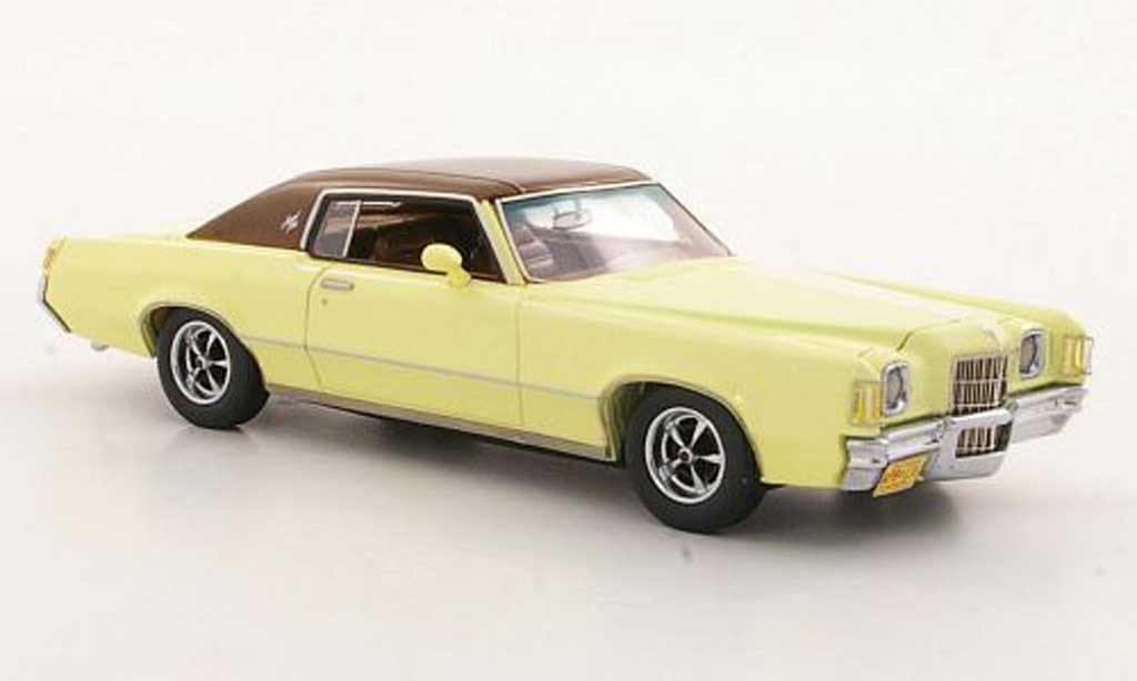 pontiac grand prix miniature hardtop coupe jaune marron 1972 neo 1 43 voiture. Black Bedroom Furniture Sets. Home Design Ideas