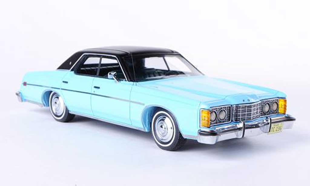 Ford LTD 1973 1/43 Neo 1973 bleu/matt noire miniature