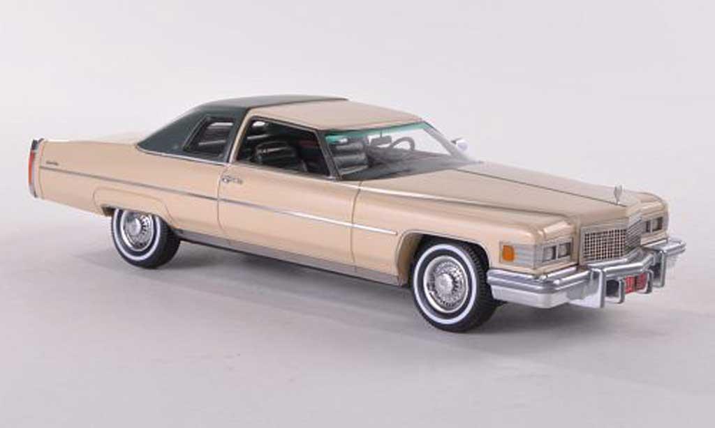 Cadillac Deville 1976 1/43 Neo 1976 beige/mattgrisegrun miniature