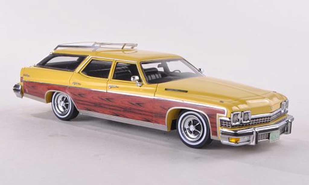 Buick Estate 1/43 Neo Wagon jaune/Holzoptik 1974 miniature