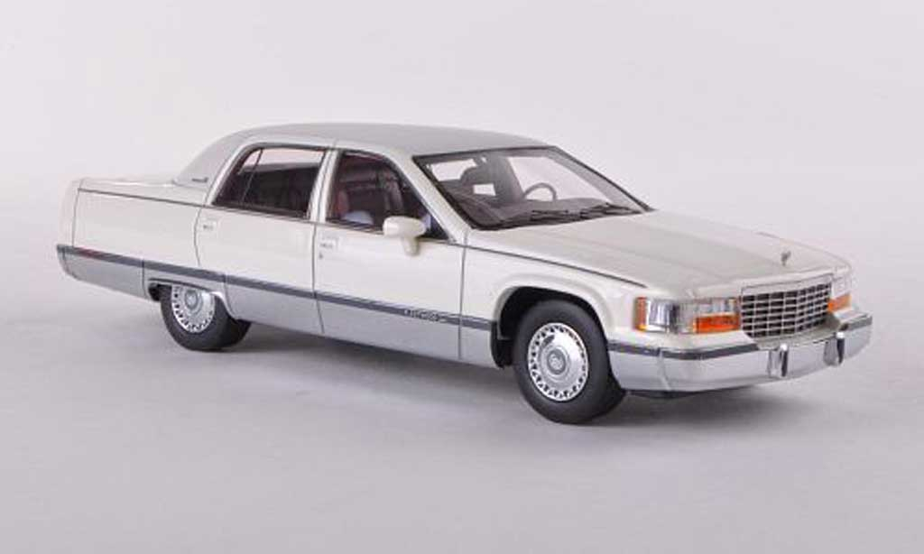 Cadillac Fleetwood Brougham 1/43 Neo blanche/lumineuses-gris 1994 miniature