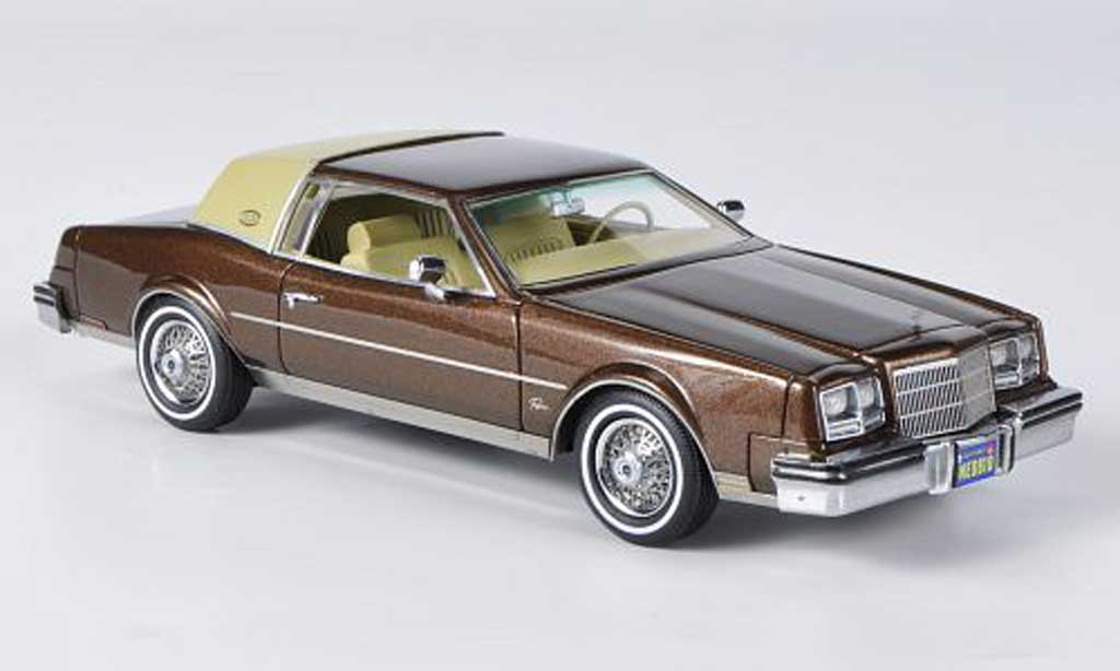 Buick Riviera 1982 1/43 Neo marron/beige miniature