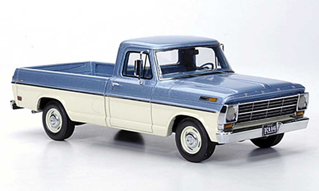 Ford F 100 1/43 Neo Pick Up grise bleu/blanche 1968 miniature