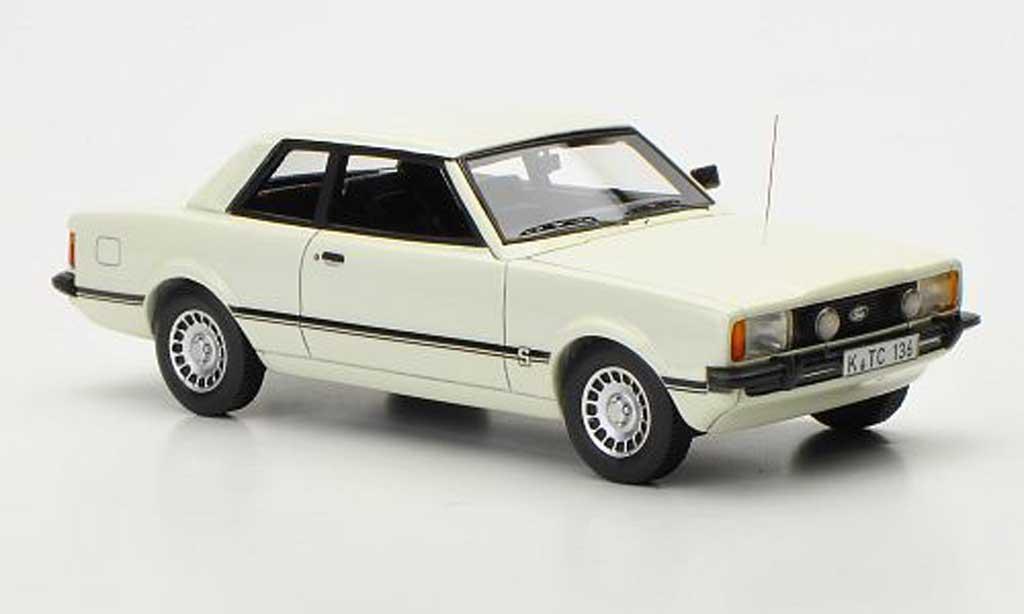 Ford Taunus 1976 1/43 Neo TC2 S blanche 2-Turer miniature