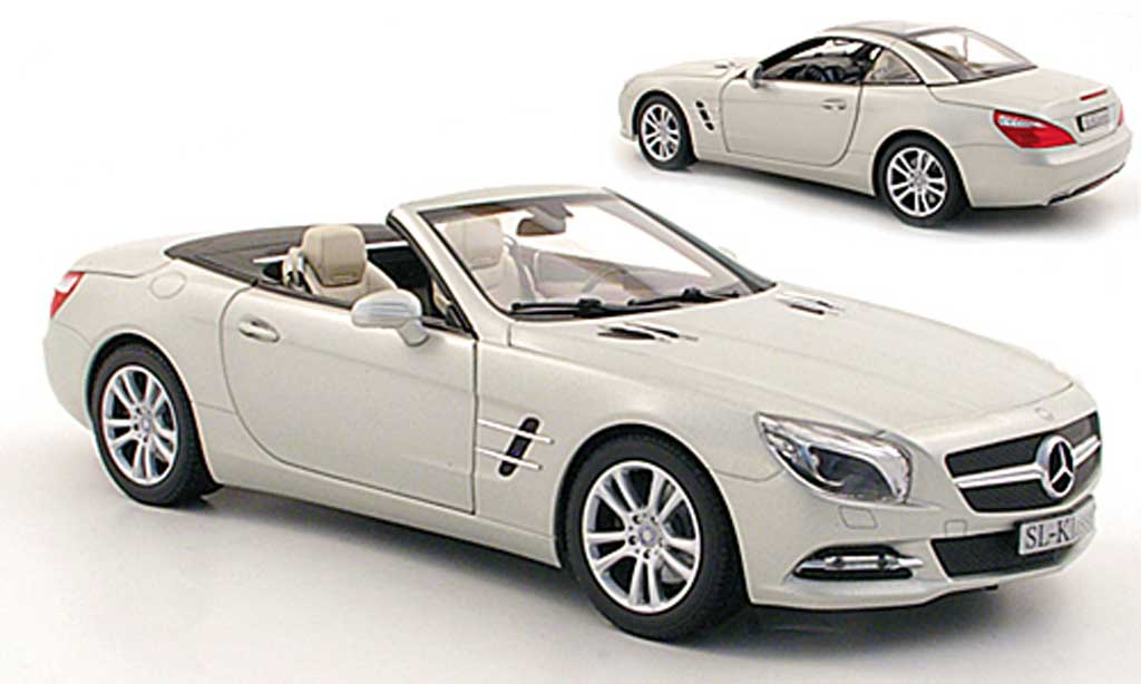 Mercedes Sl Miniature R231 Grise Metallisee 2012 Norev 1