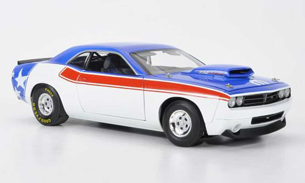 Dodge Challenger 2008 1/18 Fairfield Mint Super Stock Concept rouge/blanche/bleu miniature