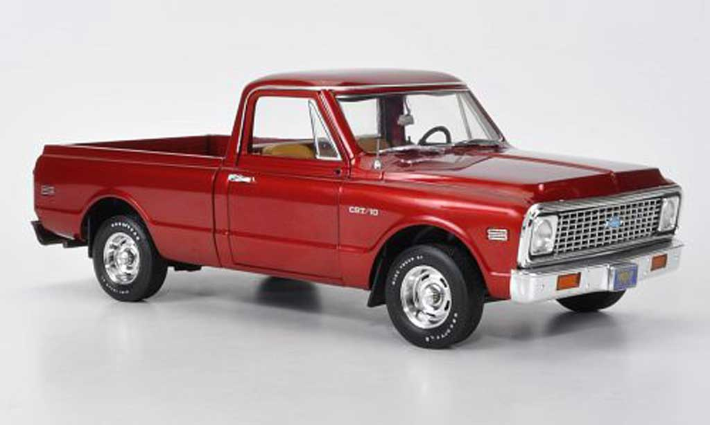 Chevrolet C-10 1/18 Highway 61 Fleetside Pick Up rouge 1969 miniature