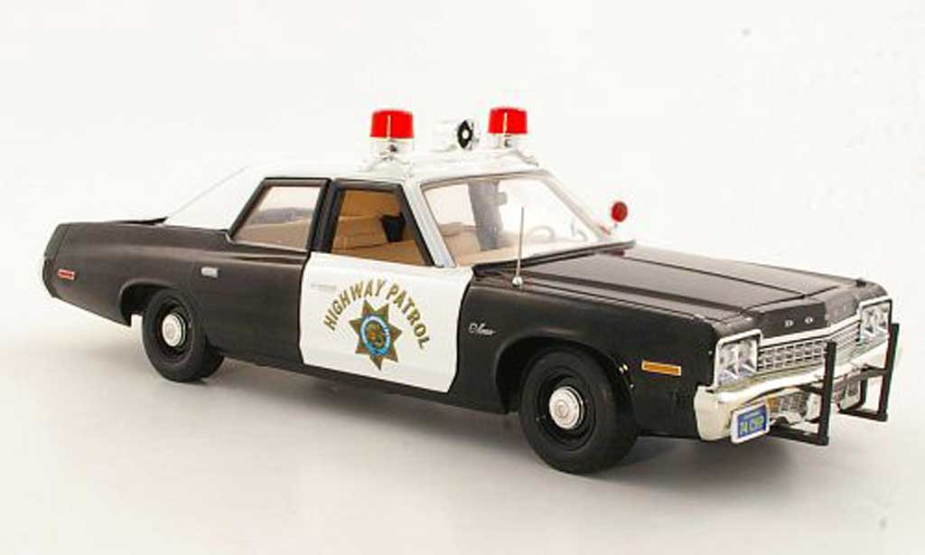 Dodge Monaco 1974 1/18 Ertl California Highway Patrol Polizei (US) miniature