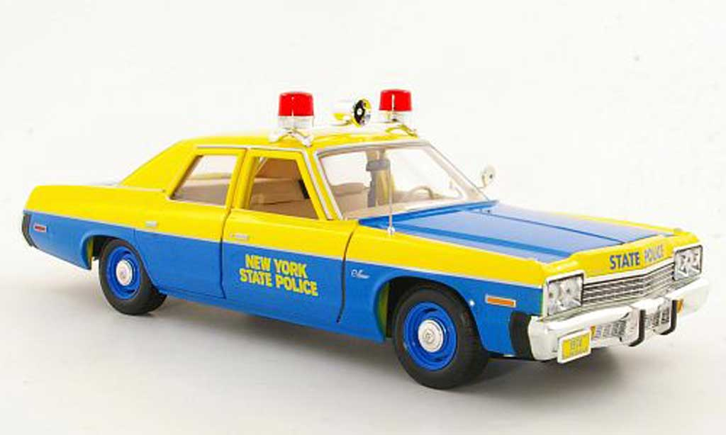 dodge monaco 1974 new york state police polizei us ertl modellauto 1 18 kaufen verkauf. Black Bedroom Furniture Sets. Home Design Ideas